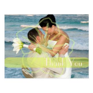 結婚は感謝していしています郵便はがきはあなたの写真を挿入します ポストカード