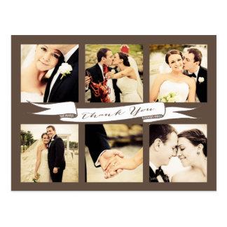 結婚は旗の原稿のタイポグラフィの写真感謝していしています 葉書き