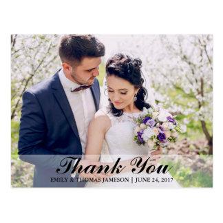 結婚は花嫁及び新郎の写真の郵便はがきB感謝していしています 葉書き