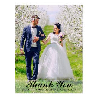 結婚は花嫁及び新郎の写真の郵便はがきB L感謝していしています はがき