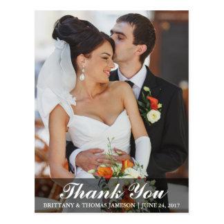 結婚は花嫁及び新郎の写真の郵便はがきWL感謝していしています ポストカード