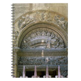 結婚をで描写する西部の開始tympanum ノートブック