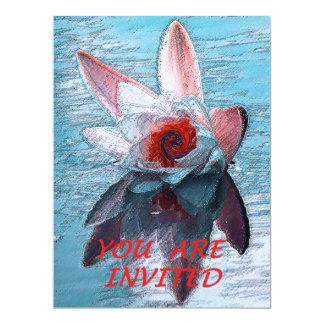 """結婚式かパーティの招待状"""" Waterlilly """" 16.5 X 22.2 インビテーションカード"""