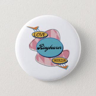 結婚式で指輪を運んで来る人ボタン 缶バッジ