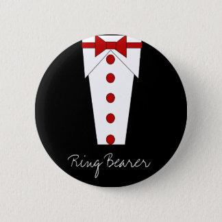 結婚式で指輪を運んで来る人ボタン(赤い) 缶バッジ