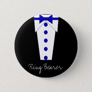 結婚式で指輪を運んで来る人ボタン(青い) 缶バッジ