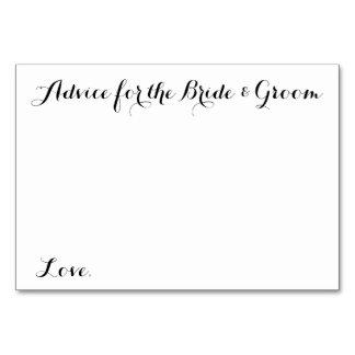 結婚式のアドバイスは花嫁及び新郎のためのアドバイスを梳きます カード