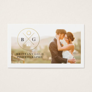 結婚式のイベントの写真撮影の名刺の黒の金ゴールド 名刺