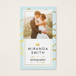 結婚式のイベントの写真撮影の名刺 名刺