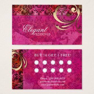 結婚式のイベントプランナーのインドのダマスク織のロイヤリティカード 名刺