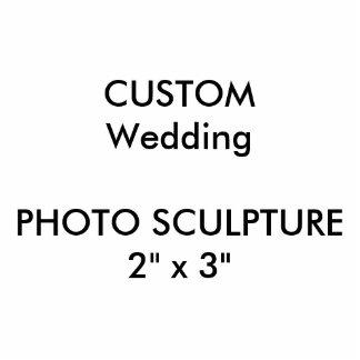 """結婚式のカスタムなフォトスカルプチャー2"""" x 3"""" 写真彫刻(台付き)"""