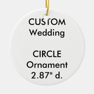 結婚式のカスタムな円形のオーナメントのぶら下がったな装飾 セラミックオーナメント