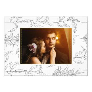 結婚式のカスタムな写真カード カード
