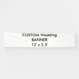 結婚式のカスタムな旗12' x 2.5' 横断幕
