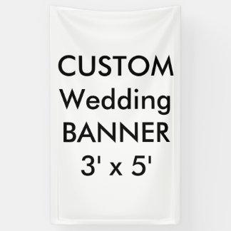 結婚式のカスタムな旗3' x 5' 横断幕