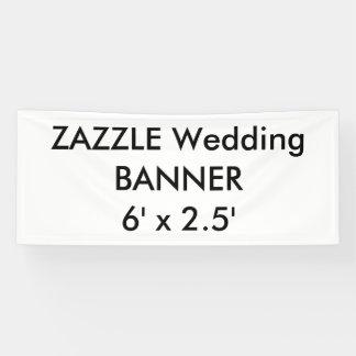 結婚式のカスタムな旗6' x 2.5' 横断幕