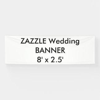 結婚式のカスタムな旗8' x 2.5' 横断幕