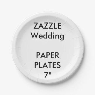 結婚式のカスタムな紙皿7つ ペーパープレート