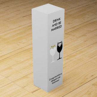 結婚式のカップルのワイン箱 ワインギフトボックス