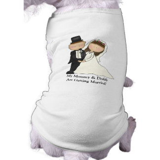 結婚式のカップル(カスタマイズ可能な) ペット服