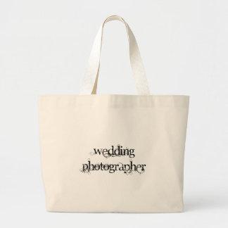 結婚式のカメラマン ラージトートバッグ