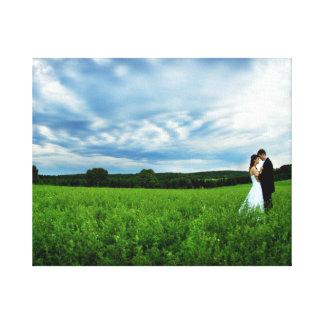結婚式のキャンバス キャンバスプリント