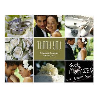 結婚式のコラージュは郵便はがき-賢人感謝していしています ポストカード