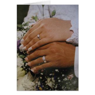 結婚式のサンキューカード カード