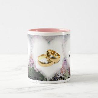 結婚式のジョッキ ツートーンマグカップ