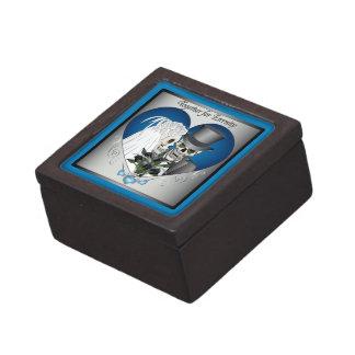 結婚式のスカル-青 ギフトボックス
