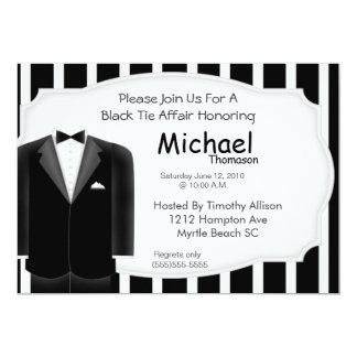 結婚式のタキシードのバチュラーパーティの招待状 カード