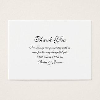 結婚式のテンプレートありがとう 名刺
