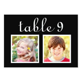 結婚式のテーブル数は|の花嫁を梳きます + 新郎の写真 カード