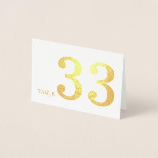 結婚式のテーブル数 箔カード