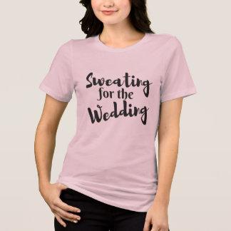 結婚式のトレーニングのピンクのTシャツのための発汗 Tシャツ