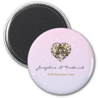 結婚式のハート 磁石