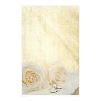 結婚式のバラ 便箋