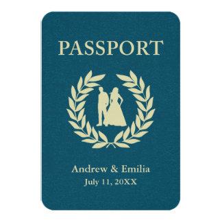 結婚式のパスポート 8.9 X 12.7 インビテーションカード