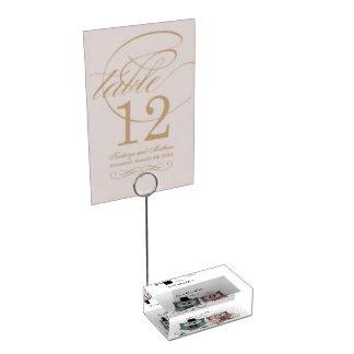 結婚式のフクロウのテーブルカードホルダーを個人化して下さい テーブルカードホルダー