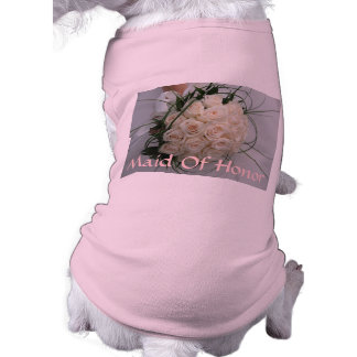 結婚式のメイド・オブ・オーナー(花嫁付き添い人)ペット衣類 犬用袖なしタンクトップ