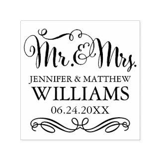 結婚式のモノグラム|氏及び夫人 セルフインキングスタンプ