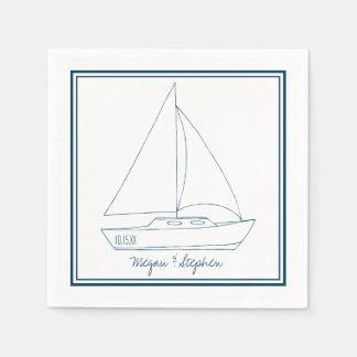 結婚式のヨット スタンダードカクテルナプキン