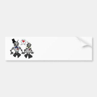 結婚式のロボット バンパーステッカー