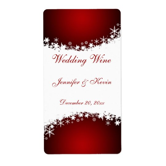 結婚式のワインのラベル 発送ラベル