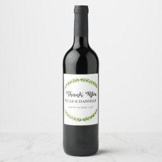 結婚式のワイン・ボトルの好意はラベル感謝していしています ワインラベル