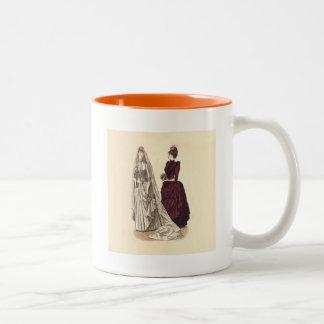 結婚式のヴィンテージのブライダルパーティの花嫁および新婦付添人 ツートーンマグカップ