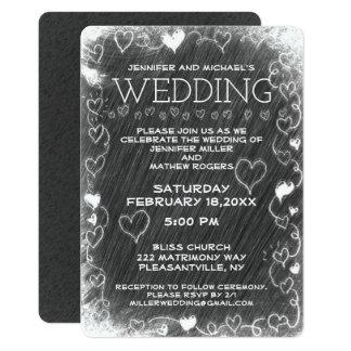 結婚式のヴィンテージの素朴な黒板 カード