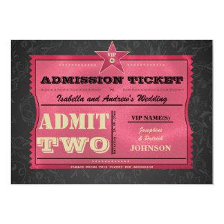 結婚式の入場のチケット 12.7 X 17.8 インビテーションカード