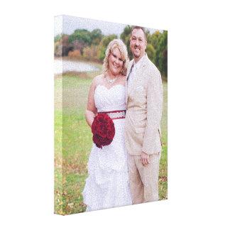 結婚式の写真か他の「sのキャンバスプリントを加えて下さい キャンバスプリント