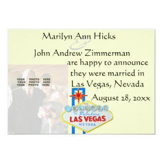 結婚式の写真とのラスベガスの結婚の発表 12.7 X 17.8 インビテーションカード